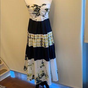 Strapless tie dye maxi dress, NEVER WORN